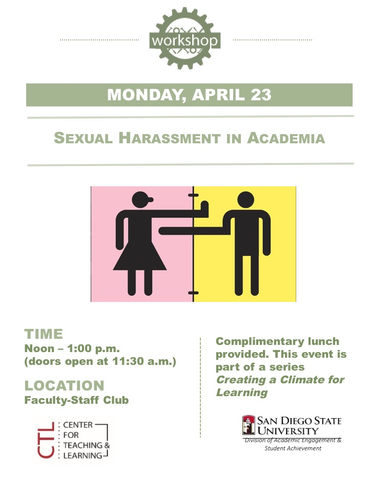 sexual harassment flyer