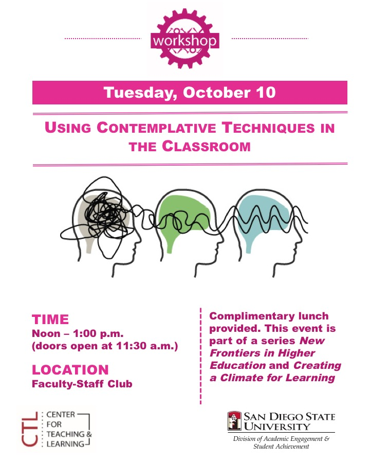 Using Contemplative Techniques in the Classroom flyer