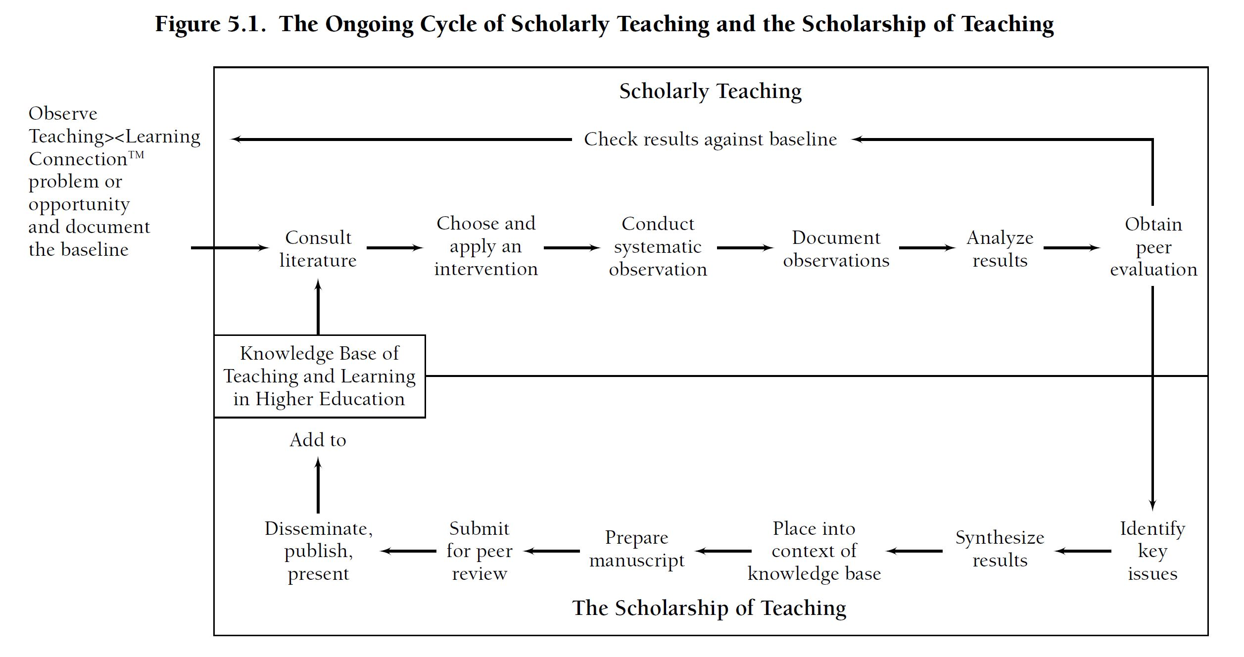 scholarly teaching process